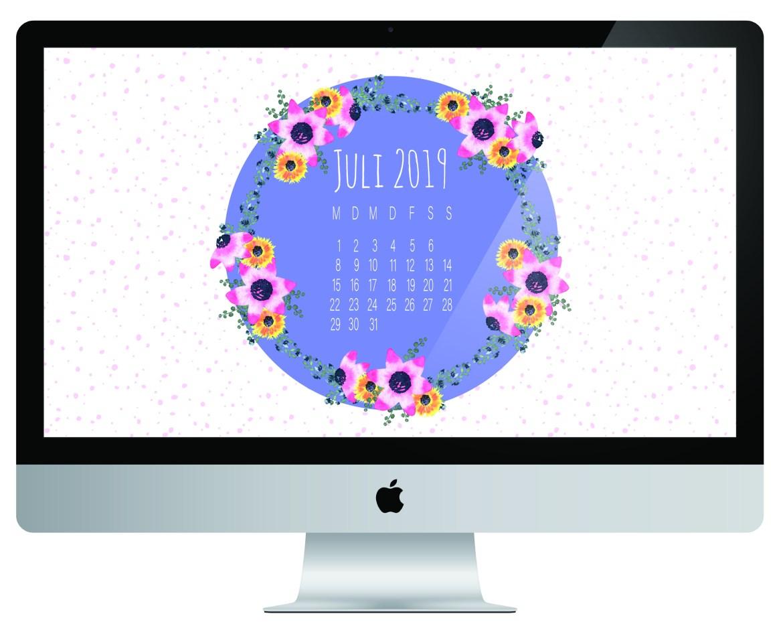 PC Desktop Kalender Juli 2019 Vorschau