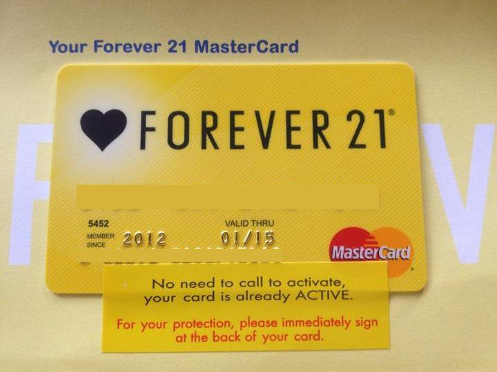 my forever 21 credit