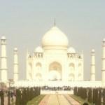 The white brilliance of the Taj Mahal
