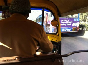 Taking a ride on a rickshaw - negotiate your price before you get in because the meter will most likely be off