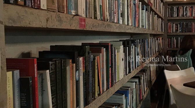 Wall of Books at Barn Books (The Food Barn, Noordhoek, Cape Town)