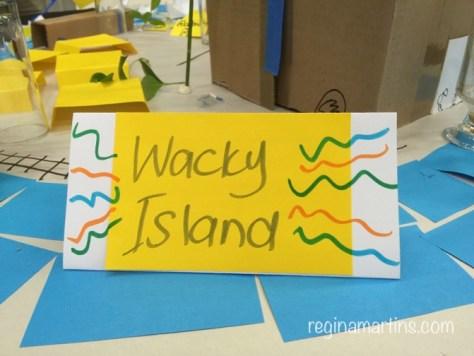 wacky island sign - reginamartins.com