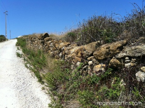 Ancient boundary wall in Portugal, probably going back to Roman times ©2015 Regina Martins