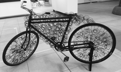 Ornate bicycle art exhibit ©2015 Regina Martins