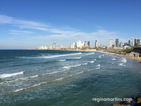 View of Tel Aviv promenade taken from the Old Jaffa side ©2016 Regina Martins