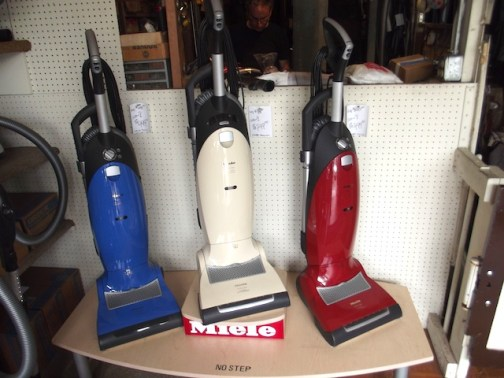 Upright Meile vacuums at F & H Vacuums.