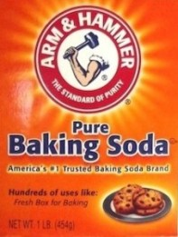 Box of Arm and Hammer Pure Baking Soda.