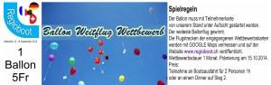Ballonweitflug Plakat mit Spielregeln