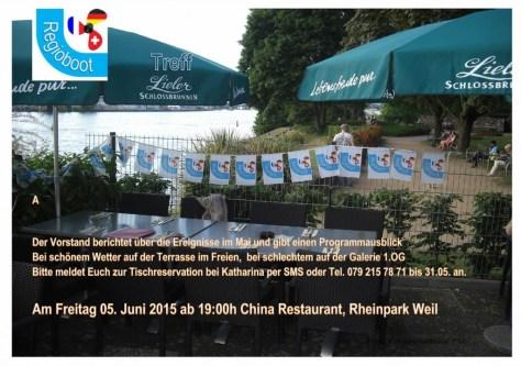 05.06.15 Treff im China Restaurant Rheinpark Weil