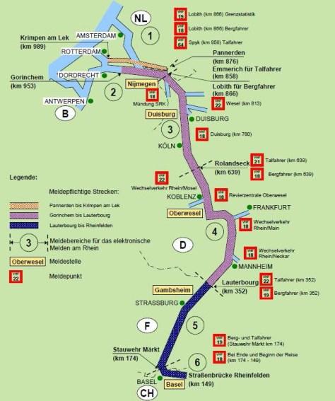Rheinabschnitte
