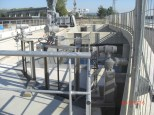 16:03h Spaziergang zum EDF 8,4MW Wasserkleinkraftwerk. Hier die Wasserzuführung aus dem Grand Canal d'Alsace