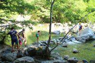Überquerung Riale Salto zwischen Wasserfall und Maggia