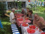 Vorspeise Melonenschiffchen mit Prosciutto di Parma