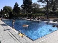 solarbeheizter Pool, Wassertemperatur 26°C