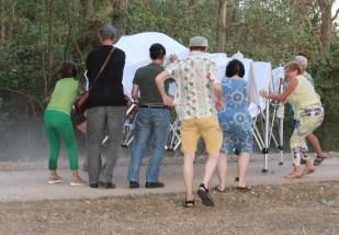 Gelungene Bergung des Zeltes mit 8 Personen
