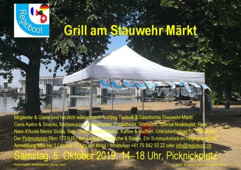 Einladung zum Grill Stauwehr Märkt 05.10.2019