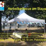 Einladungsflyer Herbstbarbecue Stauwehr Märkt 03.10.2020