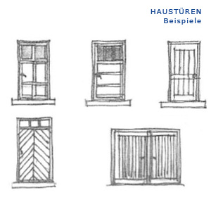 Prinzip-Skizze: Haustüren