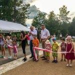 Eröffnung des Spielplatzes durch Oberbürgermeister Peter Dresler, Stadt Glauchau, 2018