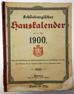 Bild: Schönburgische Hauskalender 1900