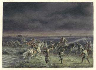 De aftocht van de Spanjaarden