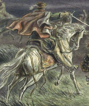 Een Spaanse ruiter op de terugtocht (detail)
