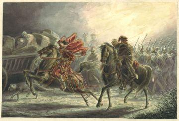 Spaanse soldaten bij de Koedijker sluis