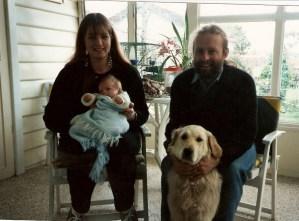 Jo, Gabriel, Tessa and me. 1992