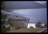 Lake Eildon in the late 1960s. Overflowing, which it rarely does now.