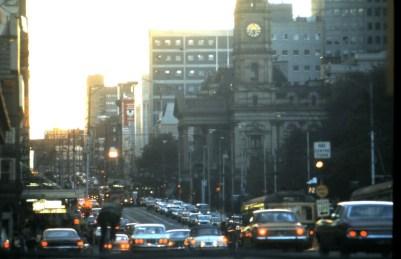 Swanston St, Melbourne. 1975