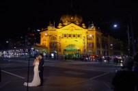 Newlyweds, Flinders St, Melbourne