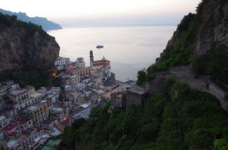 View from high above Atrani