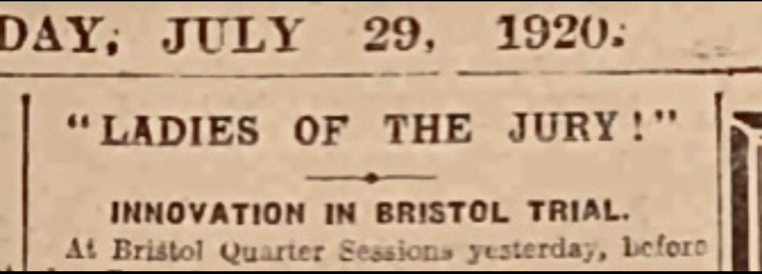 Headline Western Daily Press 29 July 1920