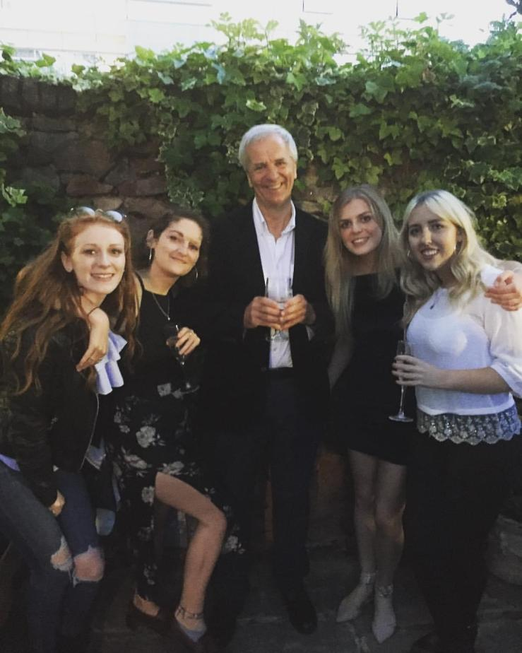 Phil with final year students at our post-exam drinks
