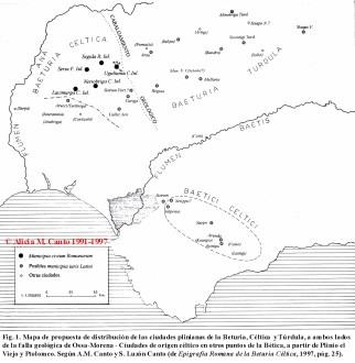 La Beturia, Céltica y Túrdula