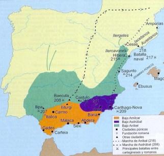 Beturia fue dominada bajo el poder de Aníbal mientras que Turdetania fue sometida por Amílcar