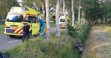 Motorrijder beland in sloot Tiendeveen