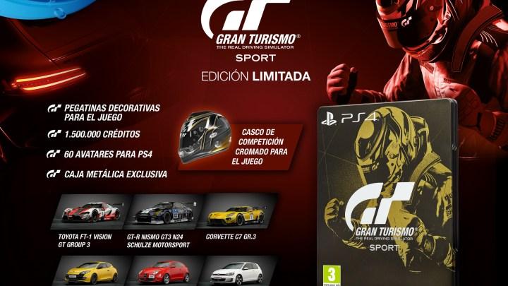 Revelada la portada y contenido de todas las ediciones de Gran Turismo Sport