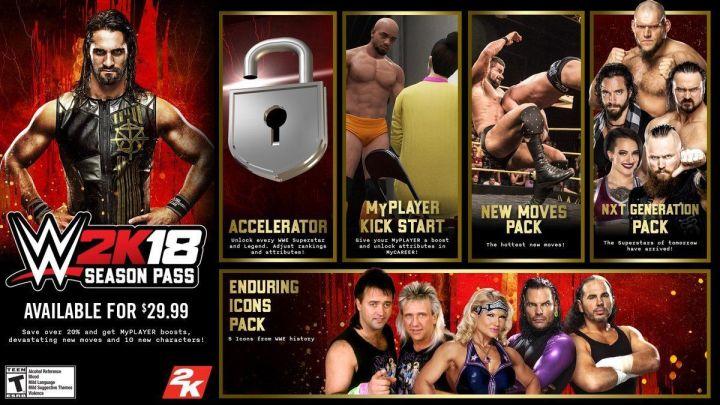 WWE 2K18 muestra contenido descargable y season pass