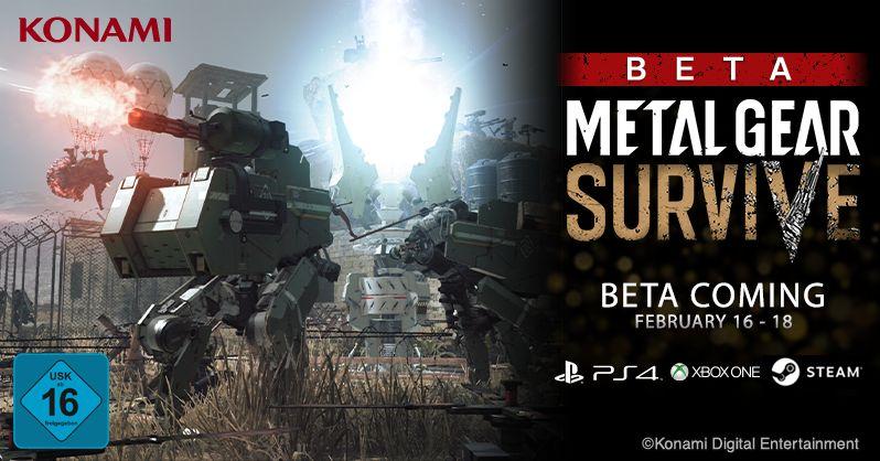 Konami anuncia la fecha de la segunda BETA abierta de Metal Gear Survive