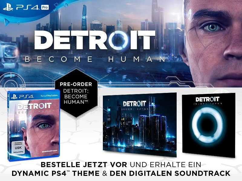 Presentada una carátula especial de Detroit Become Human y los contenidos por su reserva