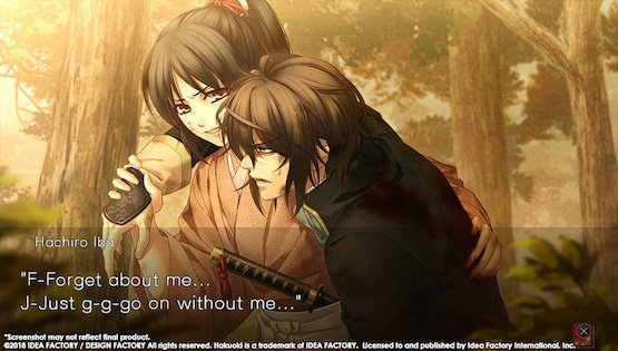 Hakuoki: Edo Blossoms muestra varias instantáneas de Harada e Iba