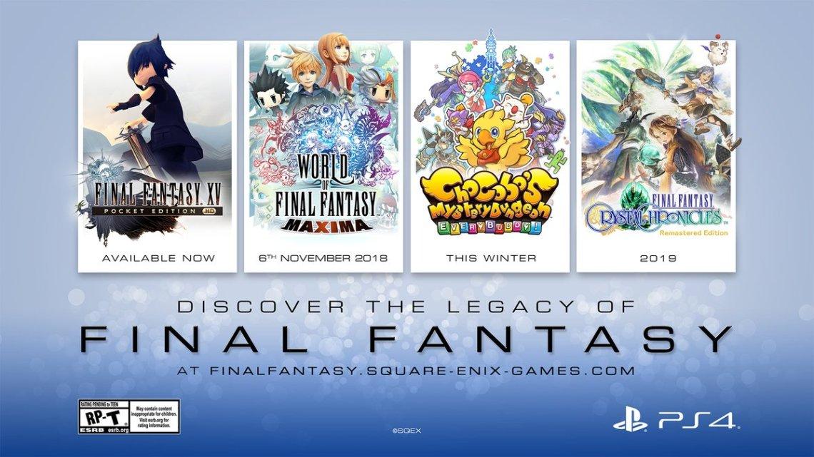 Square Enix anuncia varios títulos de Final Fantasy bajo el sello «Legacy»