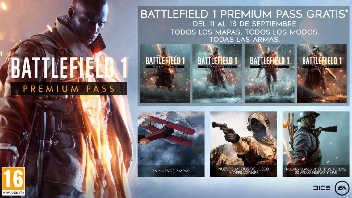 Descarga ya de forma gratuita el 'Premium Pass' de Battlefield 1