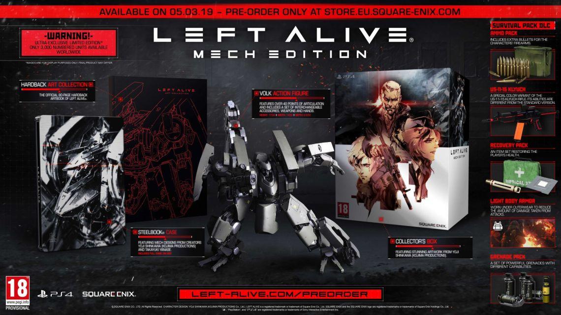 Descubre en profundidad la 'Mech Edition' de Left Alive en un nuevo unboxing