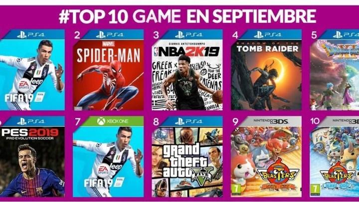 FIFA 19 fue el juego más vendido en GAME durante el mes de septiembre
