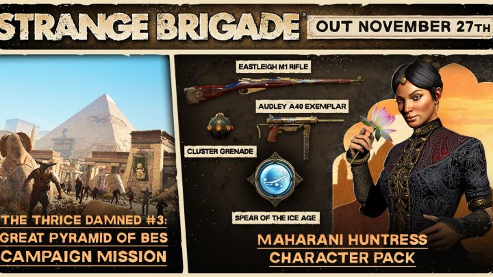 Disponible el modo foto de Strange Brigade además de un nuevo personaje jugable