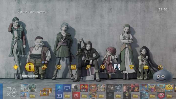 Disponible un tema gratuito de Dragon Quest XI para Playstation 4