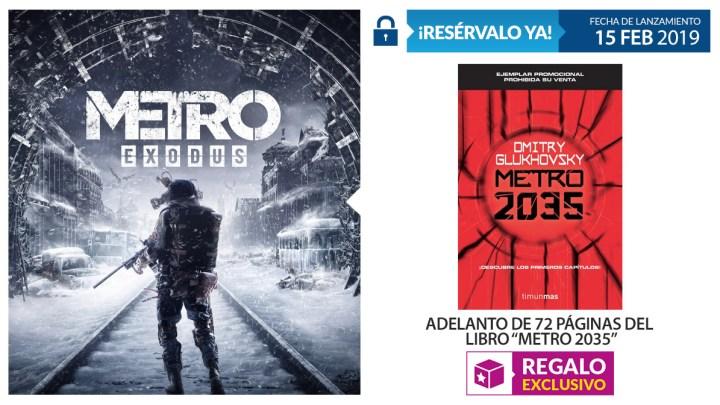 Reserva Metro Exodus en GAME y llévate un adelanto del libro Metro 2035