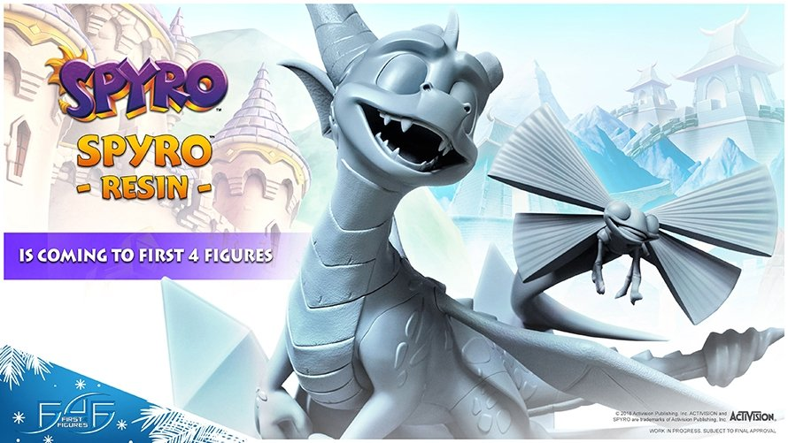 Descubre las impresionantes figuras de Spyro y Artorias (Dark Souls) de First 4 Figures